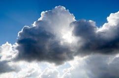 Sun through the clouds. Stock Photos