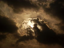 Sun in Clouds Stock Images