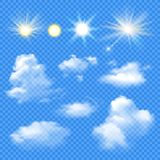 Sun And Clouds Set Royalty Free Stock Photo