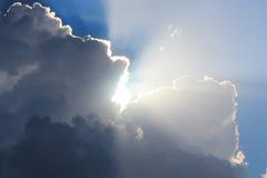 Sun in clouds Stock Photos