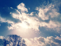 Sun clouds Royalty Free Stock Image
