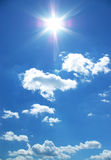 Sun and clouds in a sky Stock Photography
