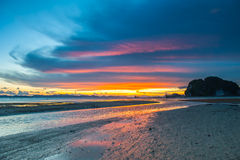 Sun, clouds and sky,. Beautiful fall evening in Krabi Royalty Free Stock Photography