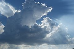 Sun, Clouds, Sky, Cloudy, Rays Royalty Free Stock Images