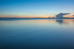 Sun, clouds and sky,. The sun rises in the morning sky, clouds and beautiful Surat thani Royalty Free Stock Images