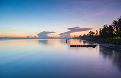 Sun, clouds and sky,. The sun rises in the morning sky, clouds and beautiful Surat thani Stock Photography