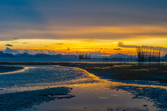 Sun, clouds and sky,sea. Sun, clouds and sky, beautiful fall evening in Krabi Royalty Free Stock Photography