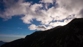 Sun clouds sky vall de nuria 4k time lapse from spain stock footage