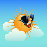 Sun and clouds. Royalty Free Stock Image