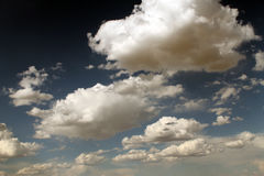 The sun through the clouds. Sunny day Stock Photos