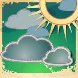 Sun And Clouds. Vector Illustration. Eps 10 Stock Image