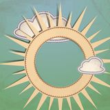 Sun And Clouds. Vector Illustration. Eps 10 Royalty Free Stock Image