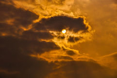 Sun and the clouds Royalty Free Stock Images