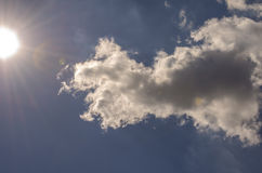 Sun and cloudy sky Royalty Free Stock Photography