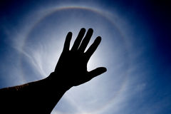 Sun cobriu à mão Imagens de Stock Royalty Free