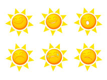 Sun collection Royalty Free Stock Images