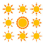 Sun collection Stock Photos