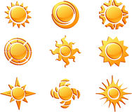 Sun collection Royalty Free Stock Image
