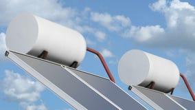 Sun Collector. Sun solar warm water panel collector Royalty Free Stock Image