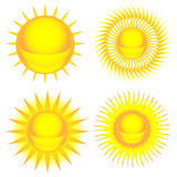 Sun colorful icon set Stock Images
