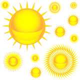 Sun colorful icon set Royalty Free Stock Image