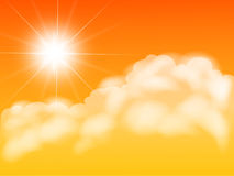 Sun with colouds Stock Images