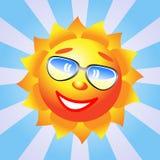 Sun com óculos de sol. ilustração do vetor