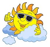 Sun com óculos de sol Imagem de Stock Royalty Free