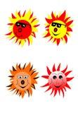 Sun com vidros Imagens de Stock Royalty Free