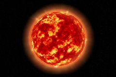The Sun come visto da spazio Fotografia Stock Libera da Diritti