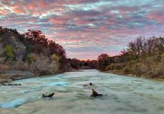 Guadalupe River Sunrise royalty free stock images
