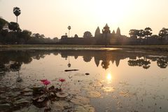 Sunrise at Angkor Thom royalty free stock photos