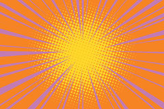 The sun comic book retro pop art background Stock Images