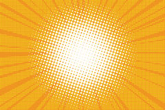 The sun comic book retro pop art background Royalty Free Stock Photography