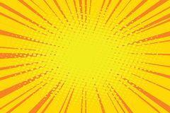 The sun comic book retro pop art background Royalty Free Stock Photo