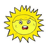 Sun comic cartoon character Royalty Free Stock Images
