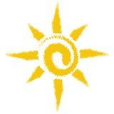 Sun con el fondo blanco Fotos de archivo