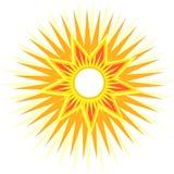 Sun con i raggi multipli Fotografia Stock Libera da Diritti