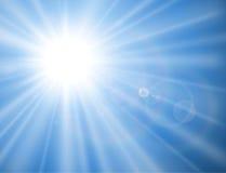 Sun con la llamarada de la lente Fotos de archivo