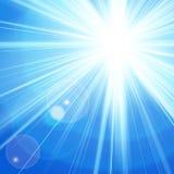 Sun con la llamarada de la lente, fondo del vector. Imagen de archivo libre de regalías