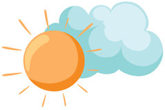 Sun con la nube libre illustration