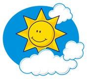 Sun con le nubi Fotografia Stock Libera da Diritti