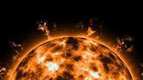 Sun con le protuberanze royalty illustrazione gratis