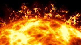 Sun con le protuberanze illustrazione vettoriale
