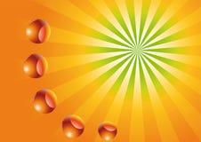 Sun con le sfere Immagini Stock