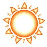 Sun con los rayos calientes Fotografía de archivo