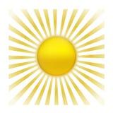 Sun con resplandor solar stock de ilustración