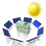 Sun, concept à énergie solaire Photos stock