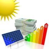 Sun, concept à énergie solaire Photographie stock