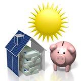 Sun, concept à énergie solaire Photos libres de droits